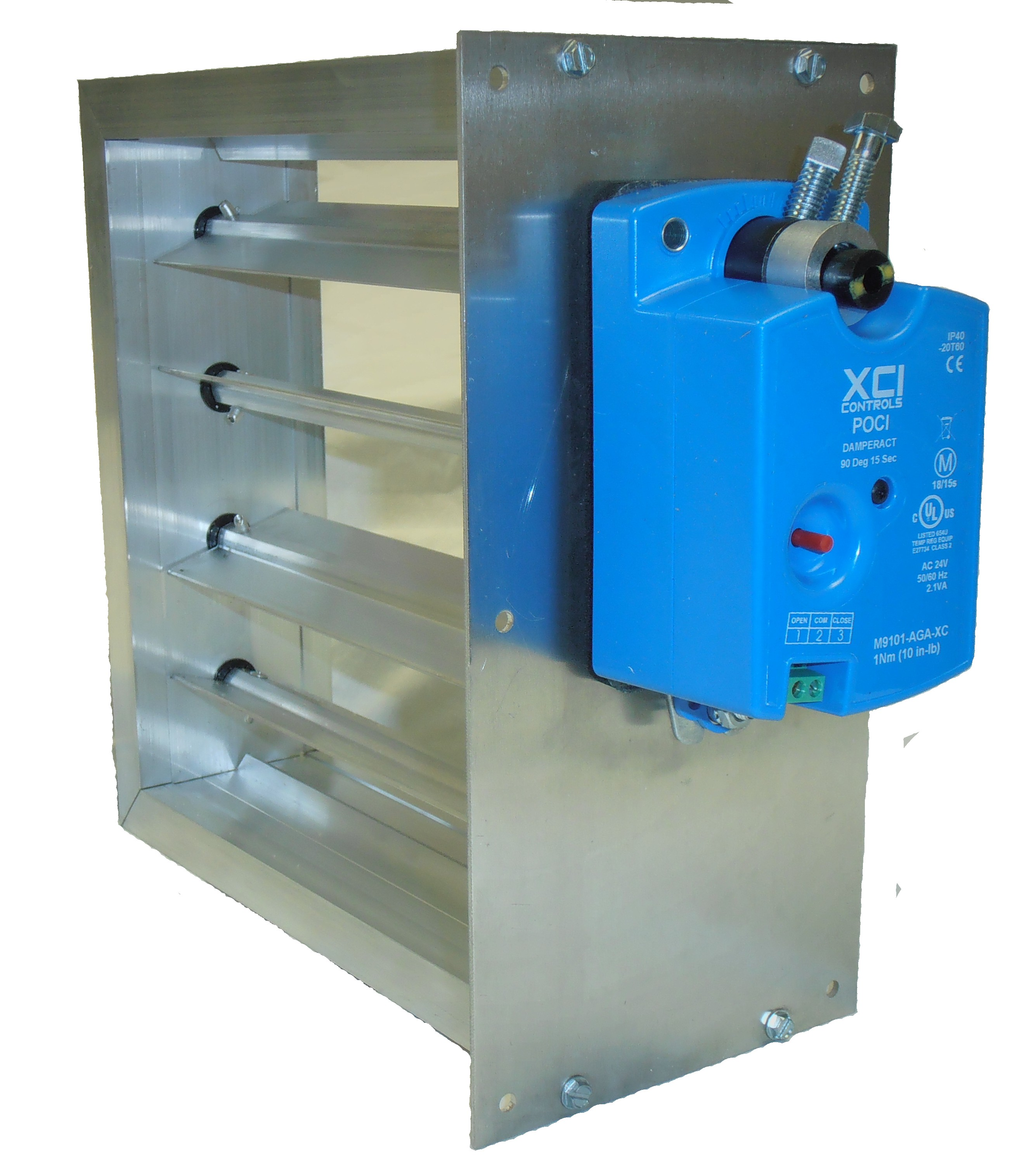 Round or Rectangular Dampers, Supply Air Dampers, from XCI Smartzone